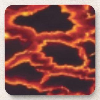 lava leopard coaster
