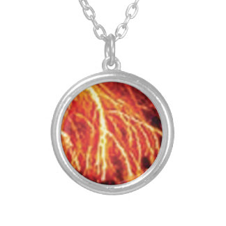 lava lightning silver plated necklace