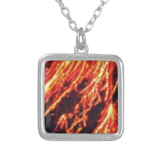 lava pour yeah silver plated necklace