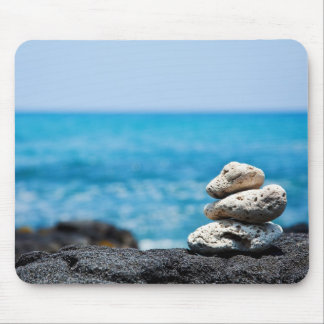 Lava Rock Coral Hawaii Ocean Tropical Beach Blank Mouse Pad