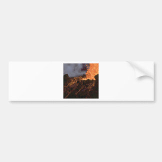Lava splatter and flow bumper sticker