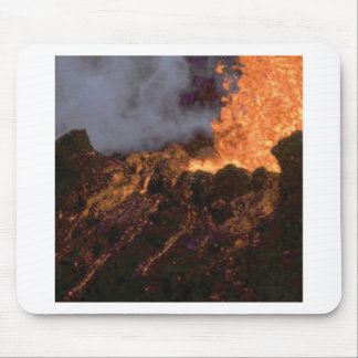 Lava splatter and flow mouse pad