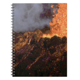 Lava splatter and flow notebook