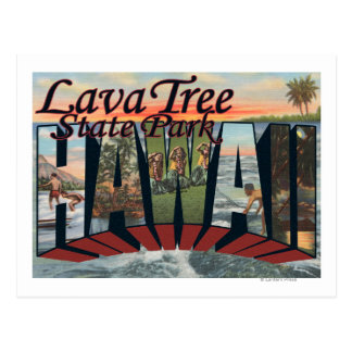 Lava Tree State Park, Hawaii Postcard