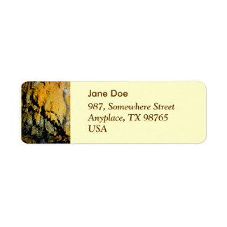 Lava tube cave return address label