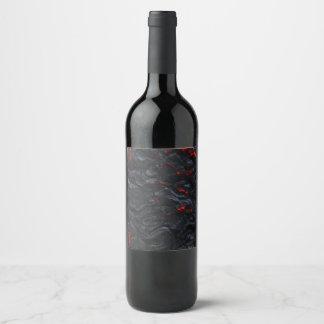 lava wine bottle wine label