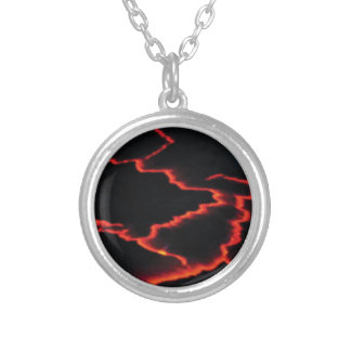 lava wires silver plated necklace