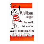 LAVAGE de CDC de Wellbee VOTRE affiche de publicit Cartes Postales