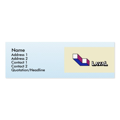 Laval, Quebec, Canada Pack Of Skinny Business Cards