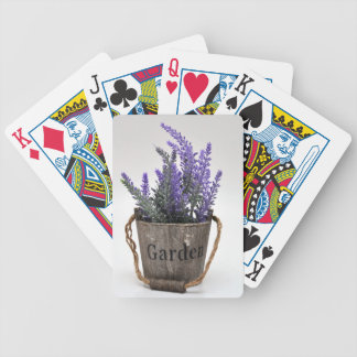 lavander bicycle playing cards