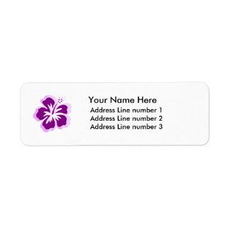 lavander flower Label Return Address Label