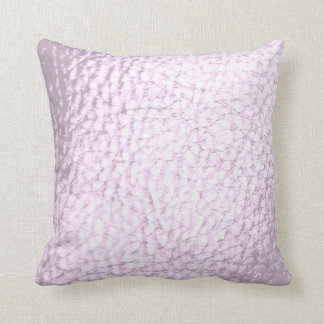 Lavander Pearl  Faux Leather Design Throw Pillow