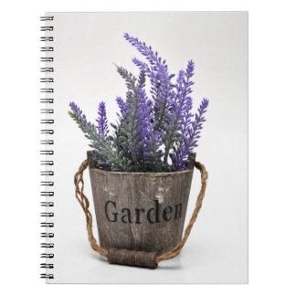 lavander spiral notebook
