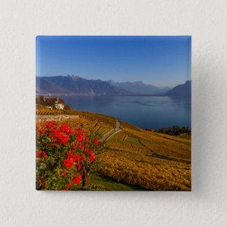 Lavaux region, Vaud, Switzerland 2 Inch Square Button