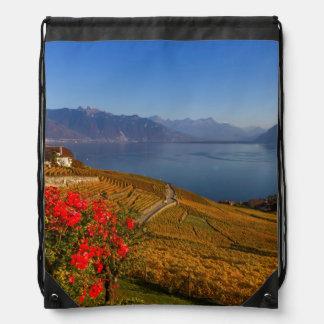 Lavaux region, Vaud, Switzerland Drawstring Bag
