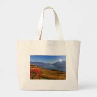 Lavaux region, Vaud, Switzerland Large Tote Bag