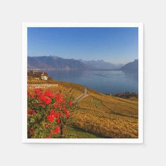 Lavaux region, Vaud, Switzerland Paper Napkin