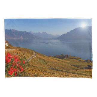 Lavaux region, Vaud, Switzerland Pillowcase