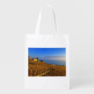Lavaux region, Vaud, Switzerland Reusable Grocery Bags