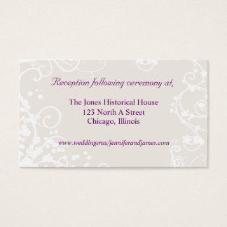 Lavendar and White Wedding enclosure cards