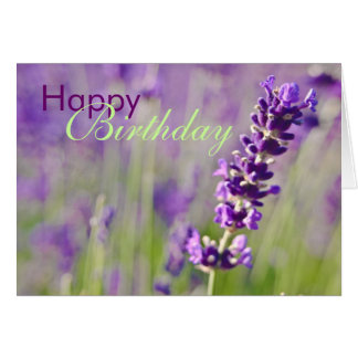 Lavendar • Birthday Card