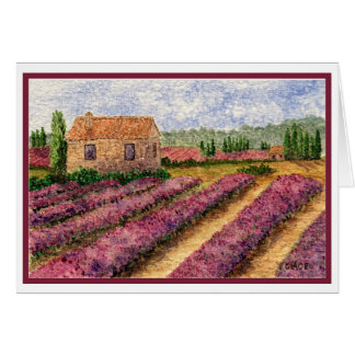 Lavendar Fieldsin Provence Card