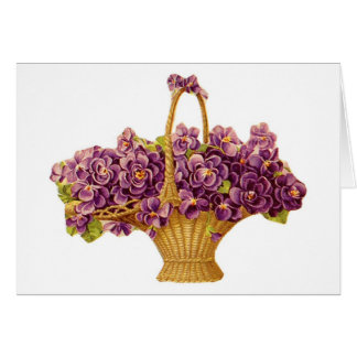 Lavendar Flower Basket Cards