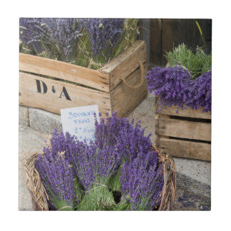 Lavendar for sale, Provence, France Ceramic Tile