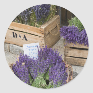 Lavendar for sale, Provence, France Classic Round Sticker