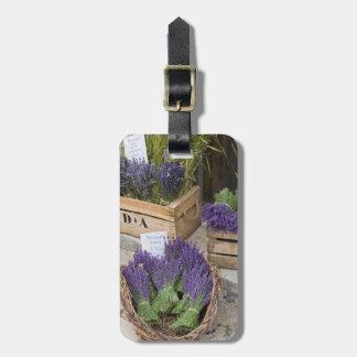 Lavendar for sale, Provence, France Luggage Tag