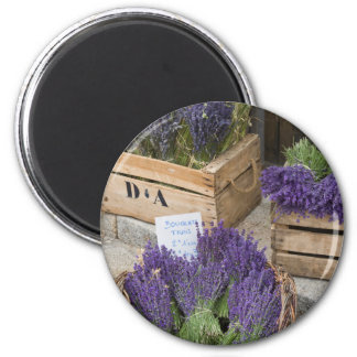 Lavendar for sale, Provence, France Magnet