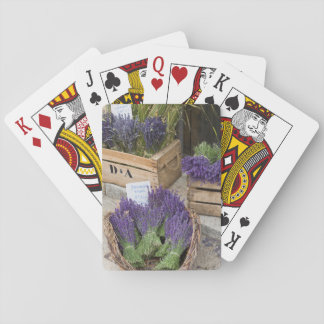 Lavendar for sale, Provence, France Playing Cards