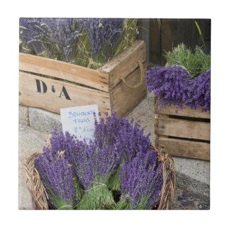 Lavendar for sale, Provence, France Tile