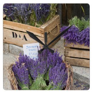 Lavendar for sale, Provence, France Wallclocks