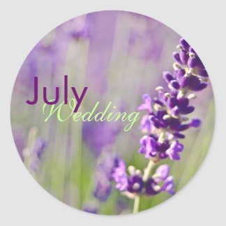 Lavendar • July Wedding Sticker