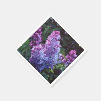 Lavendar Lilacs Disposable Napkin