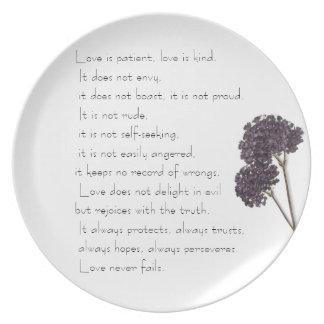 Lavendar Love is Patient Plate
