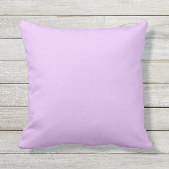 Lavendar Purple Outdoor Throw Pillow