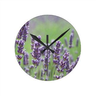 Lavendar Round Clock