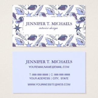 Lavendar Seashells Business Card