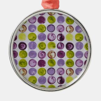 Lavendar Swirls Funky Pattern Silver-Colored Round Ornament
