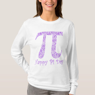 Lavendar Swirls Pi Day Tees and Gifts