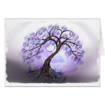 Lavendar Tree of Life Greeting Cards