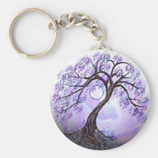 Lavendar Tree of Life Keychain