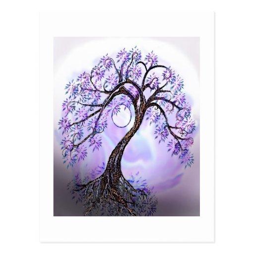 Lavendar Tree of Life Post Card