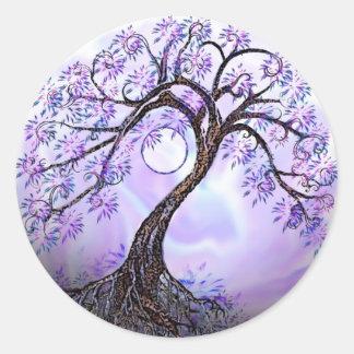 Lavendar Tree of Life Round Sticker