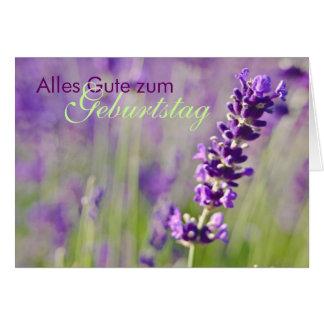Lavendel • Geburtstagskarte Card