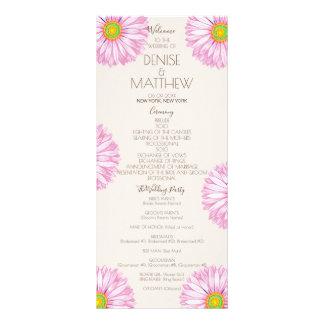 Lavender 70's Gerbera Wedding Program