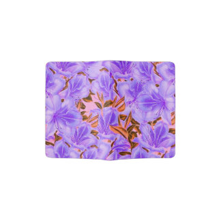 Lavender Abstract Flowers Passport Holder