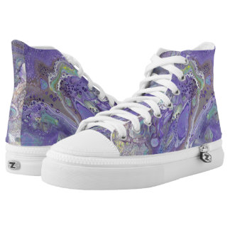 "Lavender Abstract High Tops - ""Naomi"""